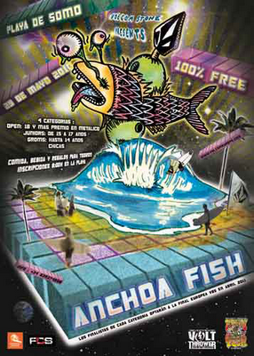 Cartel Cantabria Volcom Anchoa fish 2010