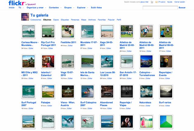 Como posicionar fotos flickr - Galeria Albumes Flickr Jesus Mier