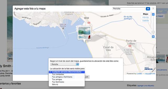 Geolocalizar fotos en Flickr