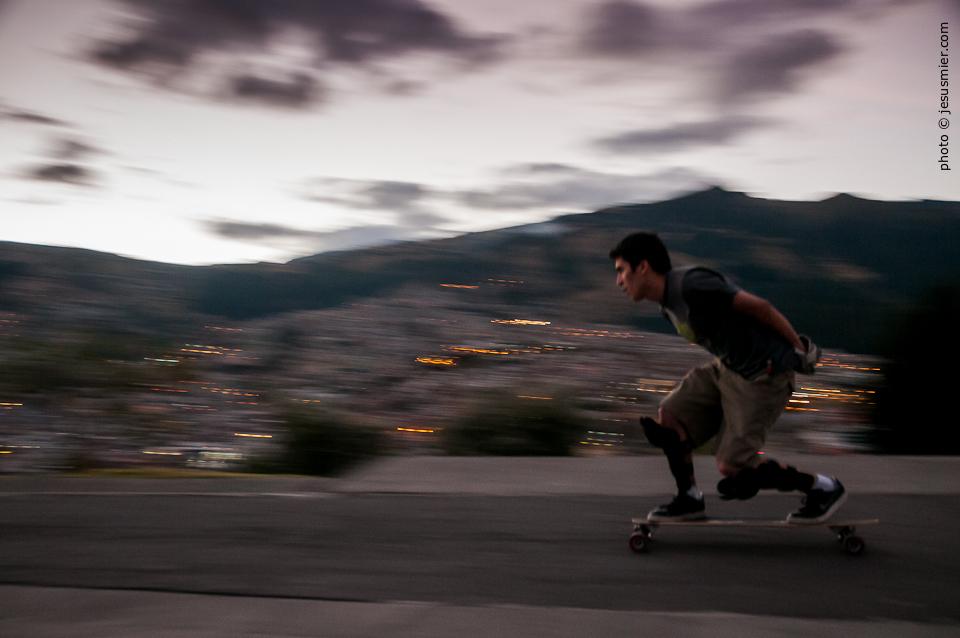 Longboard en Quito, Ecuador