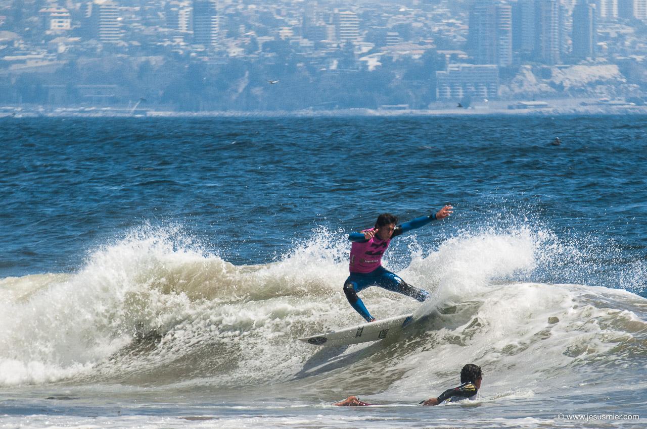 Febrero 2014 Billabong Reñaca Pro.  Surfista: Nicolas  Vargas