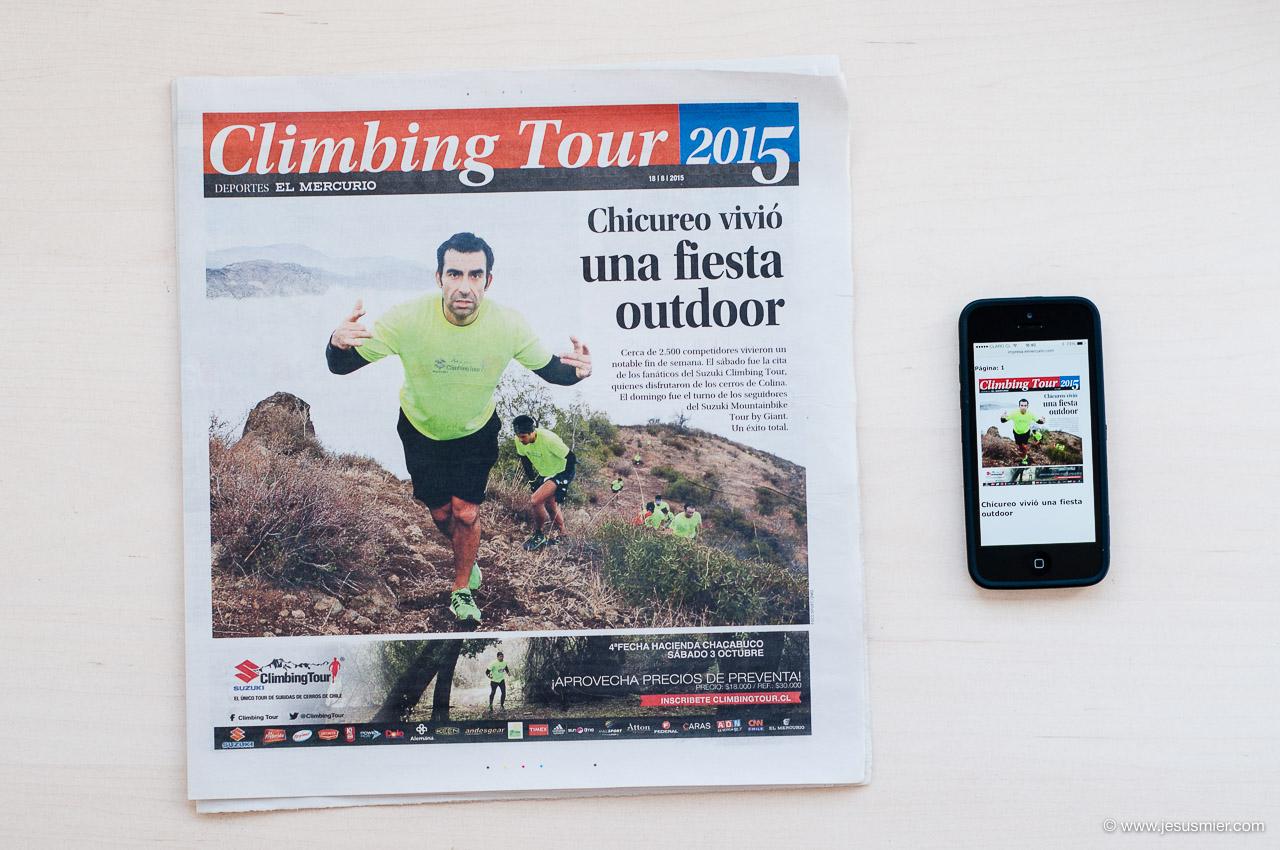 Foto Climbing Tour Chicureo en El Mercurio