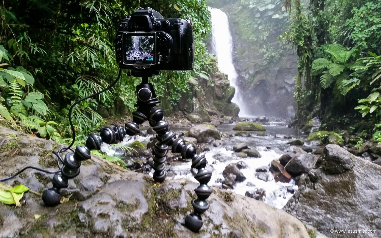 Joby GorillaPod Focus con Camara reflex