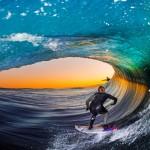 Disparando con flash dentro del tubo, Fotografia de surf con Leroy Bellet