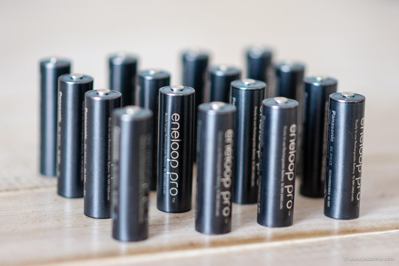 Las mejores pilas recargables para el flash - Panasonic Eneloop Pro