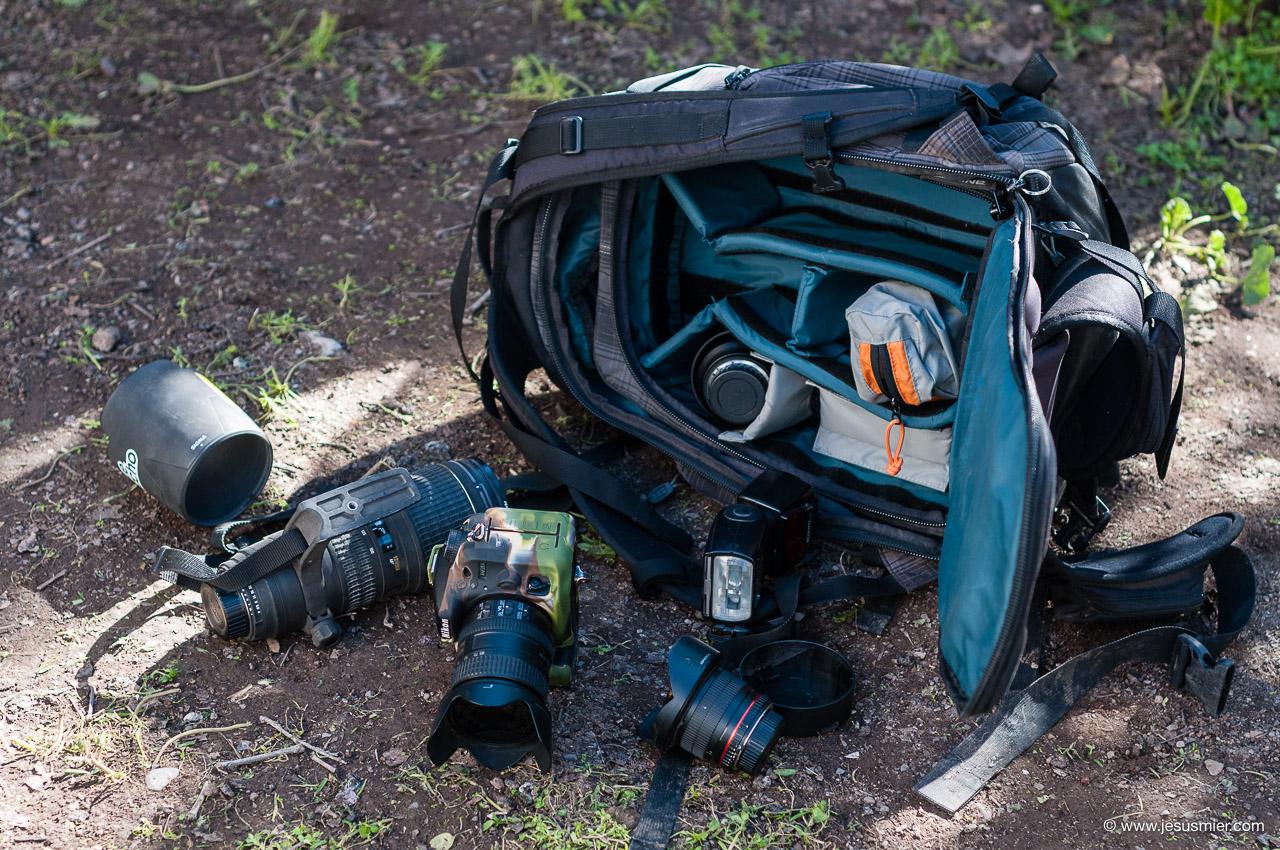 Asegura tu equipo en la Mochila Fotografia