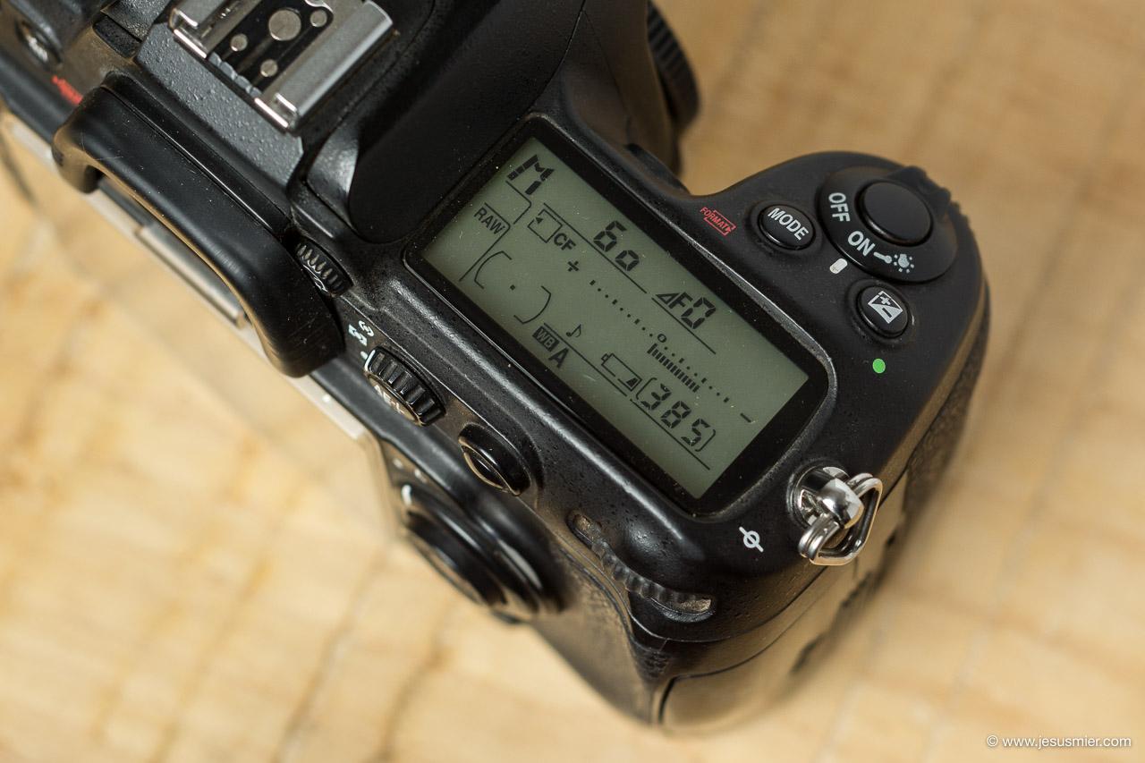 Panel informacion Bateria Nikon D300s
