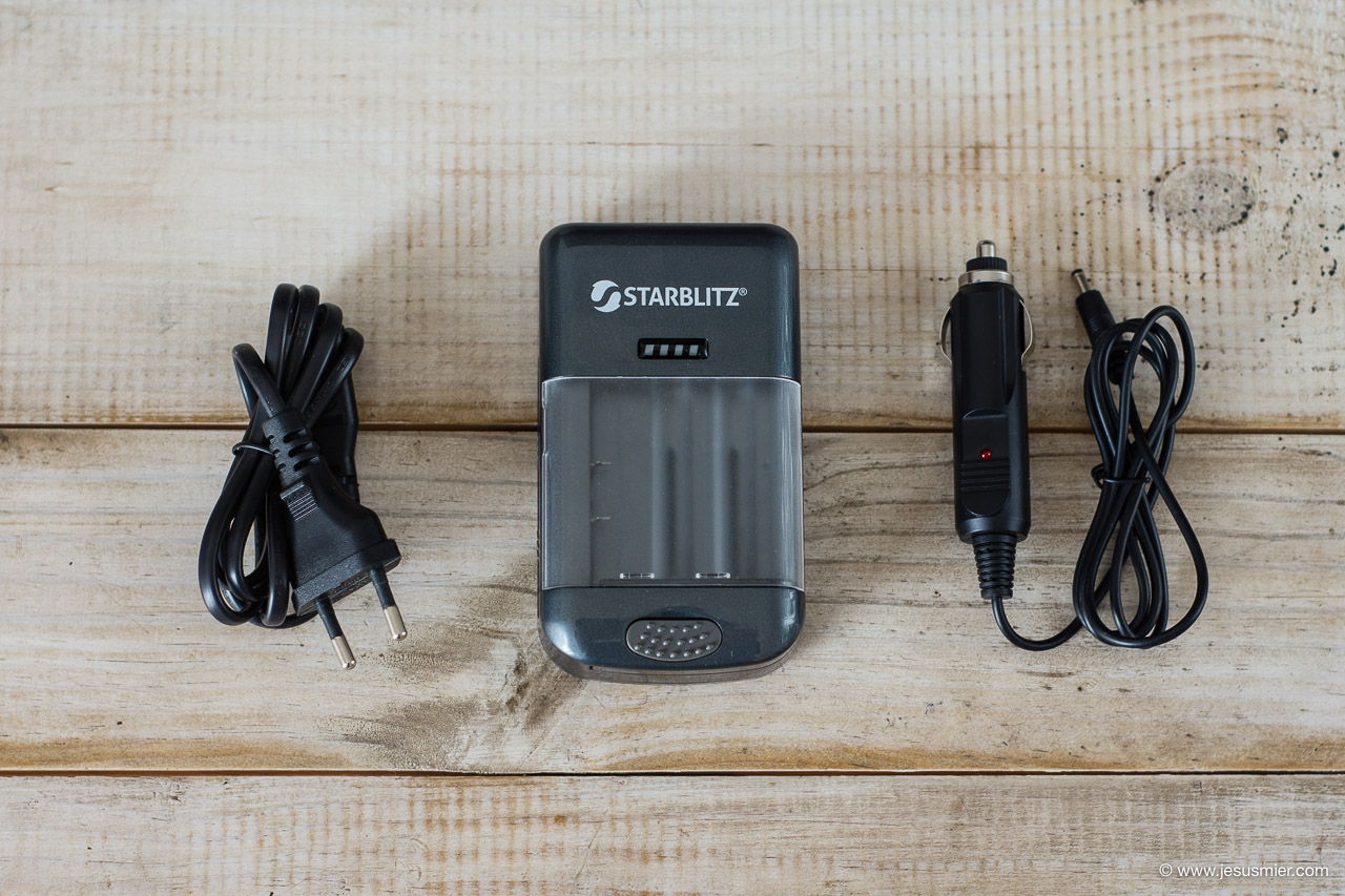 Contenido Cargador de baterias universal Starblitz SCH20