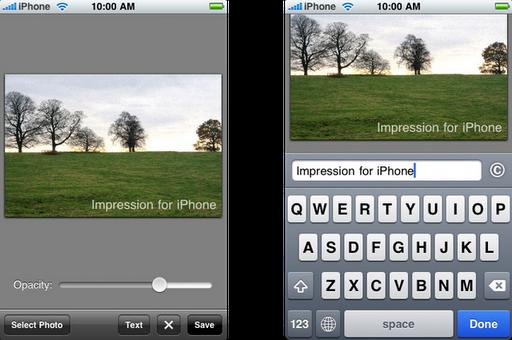 Impression App - Vista