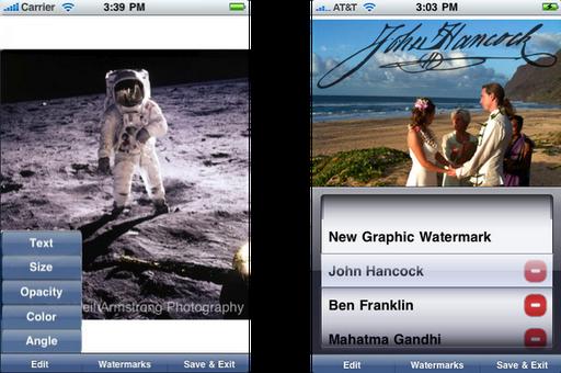 iWatermark App - Vista