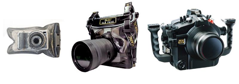 Fundas sumergibles y carcasas estancas para cámaras digitales
