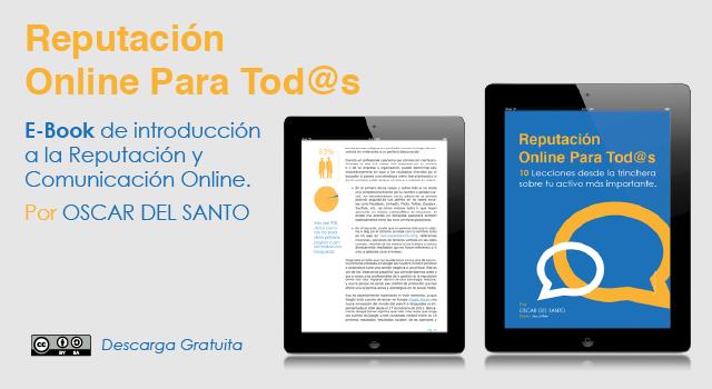 Diseño Ebook - Reputación Online para Tod@s