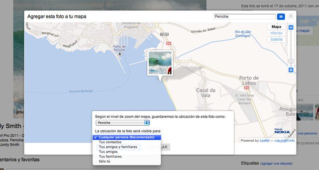 Geolocalizar fotos en Flickr