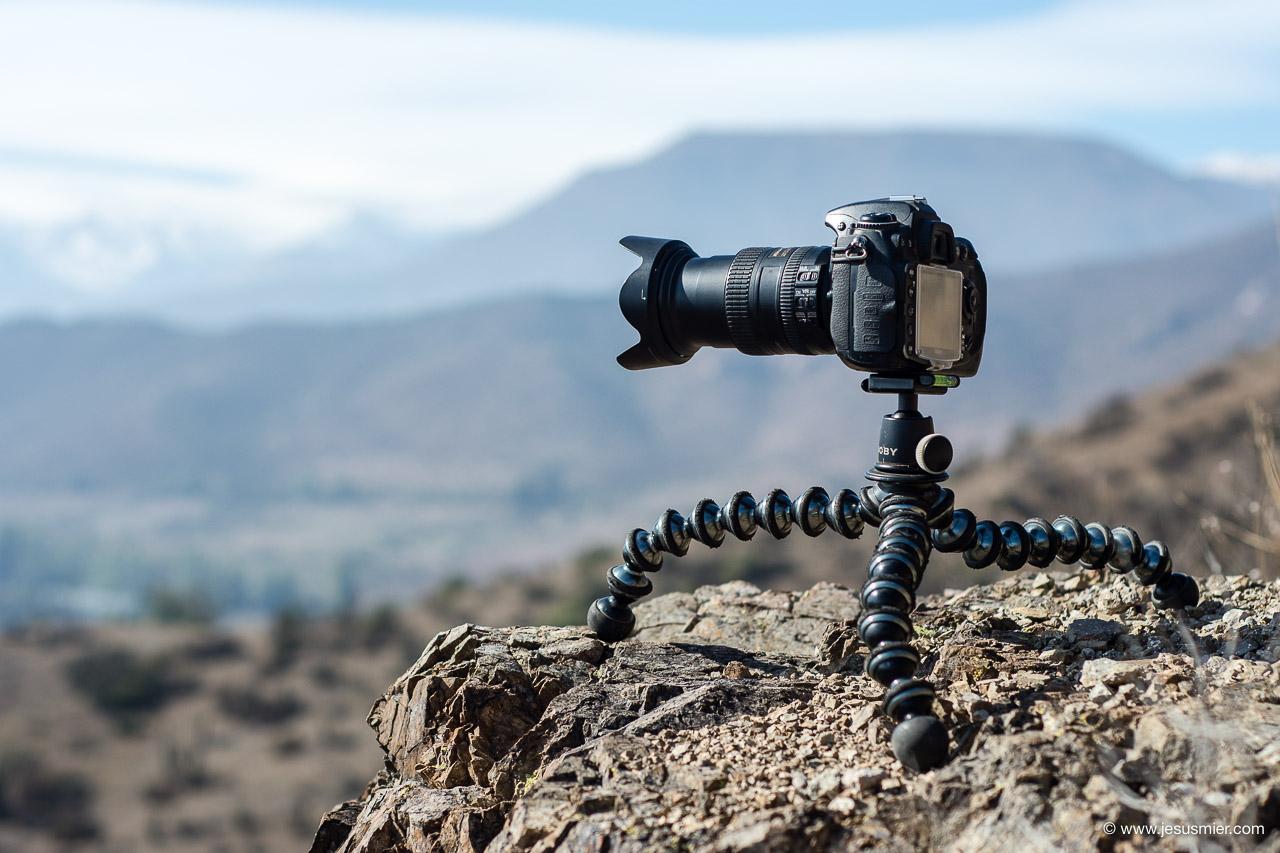 Gorillapod de Joby con camara reflex dlsr