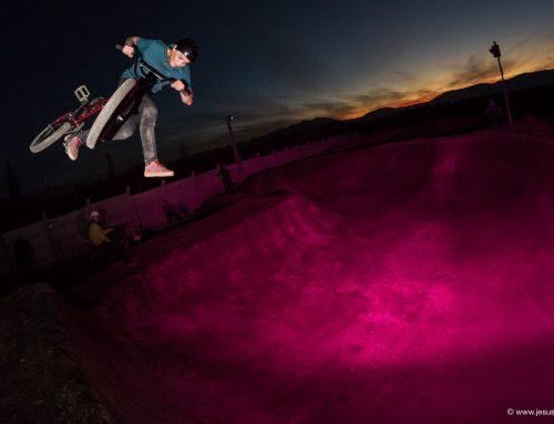 Flashes, colores y larga exposición, Bowl nightride. Primeras pruebas