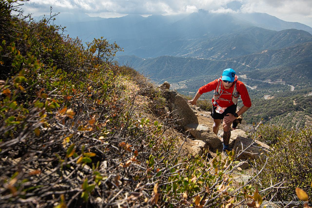 Jose Manuel Vives, La Gran Travesia 100K 2019. Cordillera de la Costa. Foto: Jesus Mier