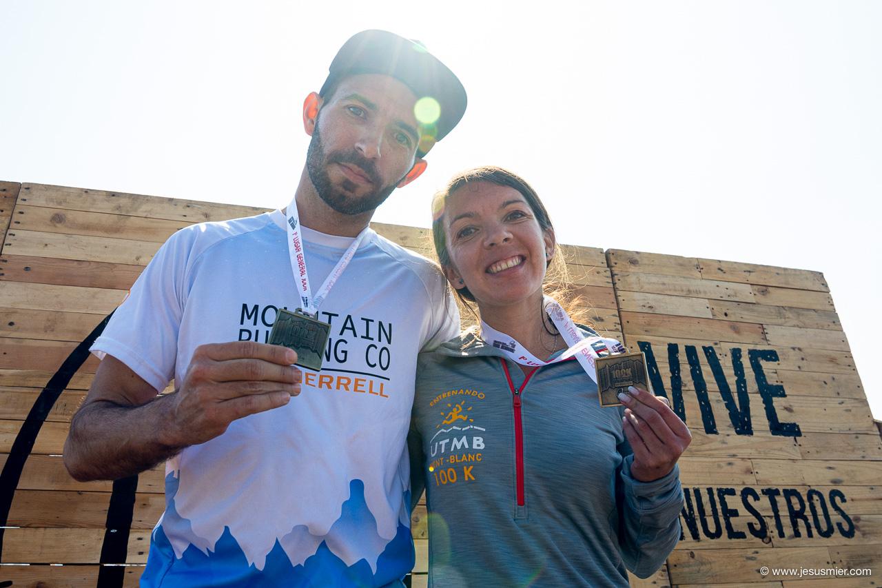 Jhon Barrera y Karmina Valenzuela, La Gran Travesia 100K 2019. Cordillera de la Costa. Foto: Jesus Mier