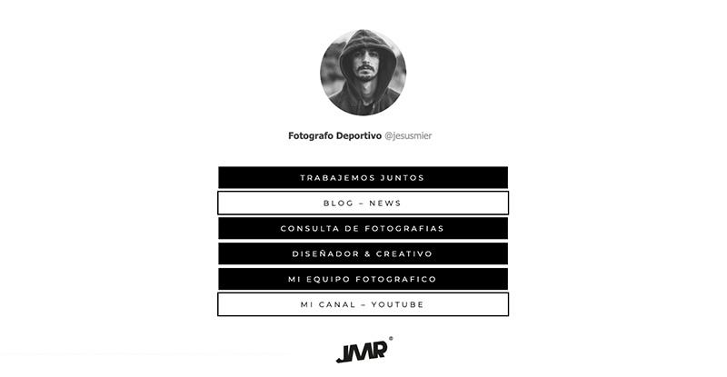 Varios Links en instagram personalizados fotografo Jesus Mier