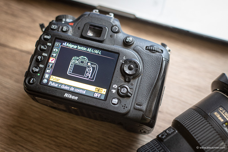 como disociar el enfoque del disparo Nikon